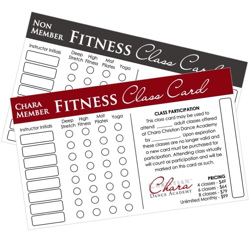 fitness class card